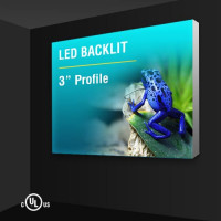 "Wall Mount Light Box 3"" Profile"