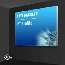 """Wall Mount Light Box 2"""" Profile"""